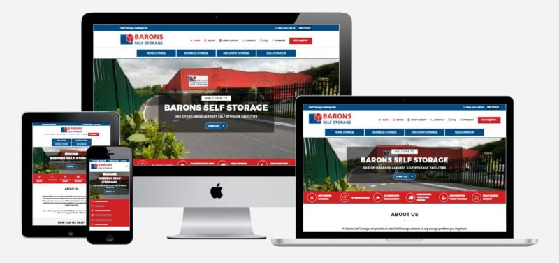 Barons Self Storage - website launch